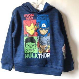 Avengers Blue Hoodie Size 3T